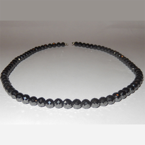 120.00 Carat black diamonds necklace
