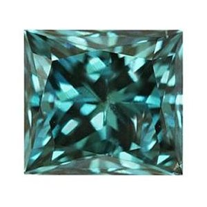 0.18 Carat blue Diamond Princess Cut - SI1-SI2