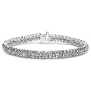 Bracelet Diamants - 6.00 Carat Diamants - Or Blanc 14K
