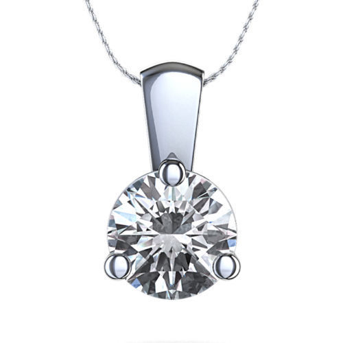 1.00 Carat Solitaire Diamants Pendentif Or blanc 14K (SI1/D)