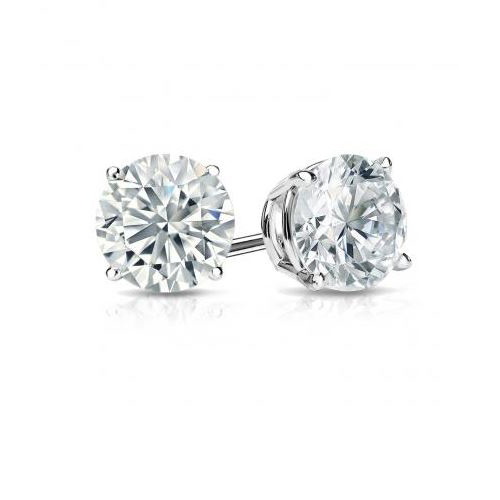 1.00 CT. D/SI1 DIAMOND STUDS 18K GOLD + GIA CERTIFICATE
