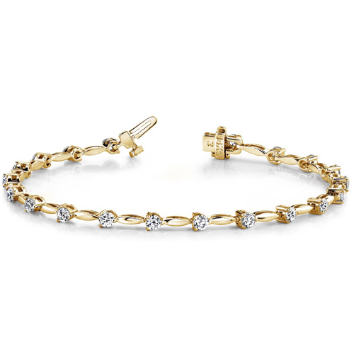 Tennis Diamant Armband 2.00 ct. Brillanten 14K 585 Gelbgold