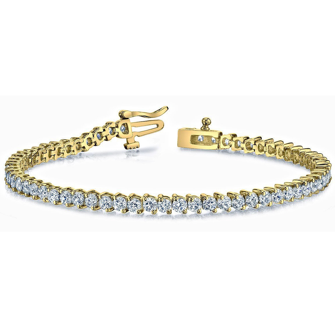 Bracelet diamants 3.00 carat en or 14K ou 18K