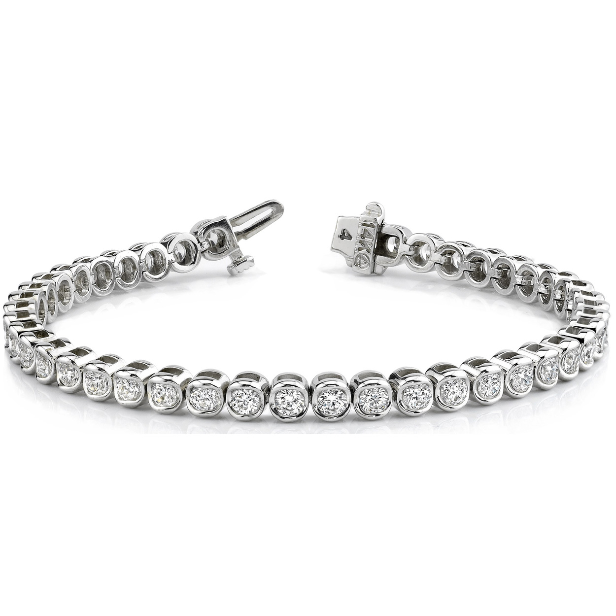 Bracelet diamants 2.00 carat en or 14K ou 18K