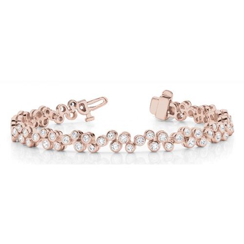 Diamantarmband 2.00 Karat Brillanten in 585 Rosegold