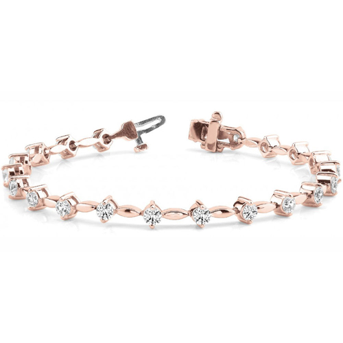 Diamantarmband 1.02 Karat Brillanten in 750 Rosegold
