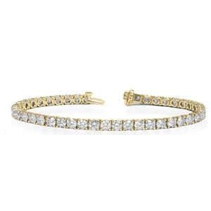 Diamantarmband mit 8.00 Karat Diamanten in 585er Gelbgold