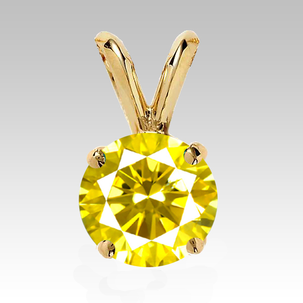 0.25 Carat yellow Diamond 14K yellow gold Pendant