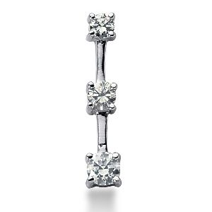 2.00 Carat white Diamond 14K white gold Pendant