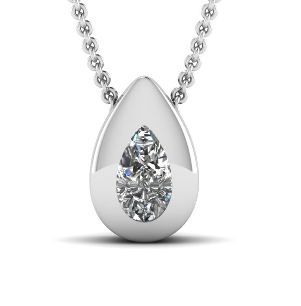 0.50 Carat white Diamond 14K white gold Pendant (SI1/D)