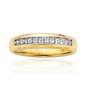0.50 CT ROUND WHITE DIAMOND MEN'S RING