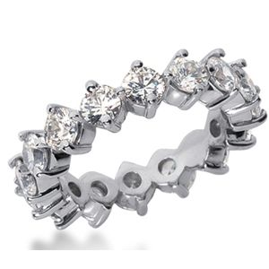 4.00 Ct. Mémoire Blanc Diamants Bague de Or 14K