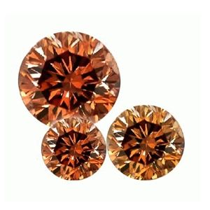 10 x Cognac Diamonds - SI2 / 1.00 Carat