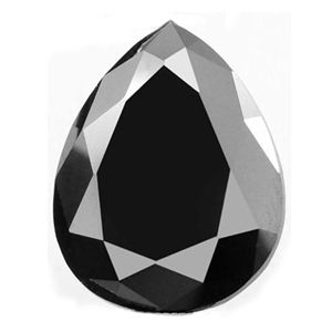 Black Diamond Pear cut best quality with 1.00 carat