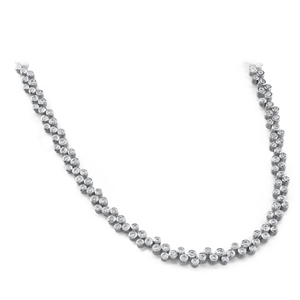 Diamond Necklace - 7.00 Carat Diamonds SI1/H - 14K White Gold
