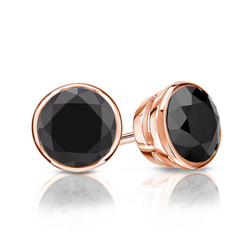 Diamantohrstecker Rosegold