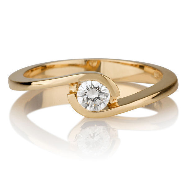Diamant Ring Gelbgold