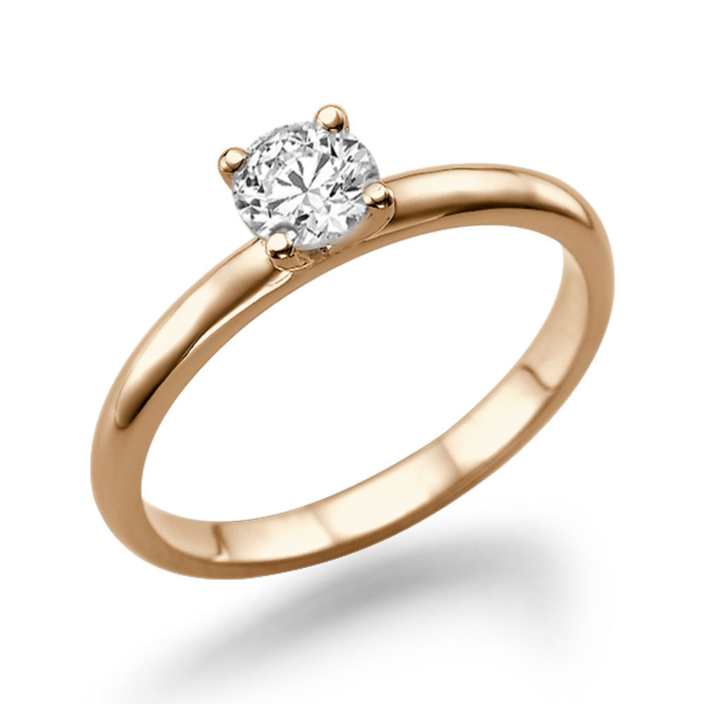 Diamantring 2 karat  Diamant Ring Solitär 0.25 Karat (VS2/F) in 585er Rosegold ...