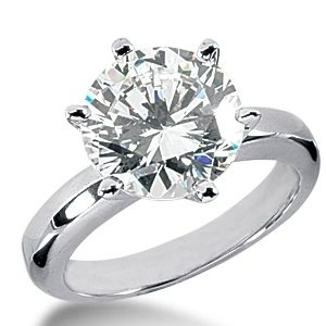 0.40 CT ROUND DIAMOND ENGAGEMENT RING 14K GOLD