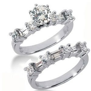 2.10 ctw Diamond Bridal Set Engagement Rings *Set No.14*