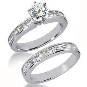 2.80 ctw Diamond Bridal Set Engagement Rings *Set No.3*