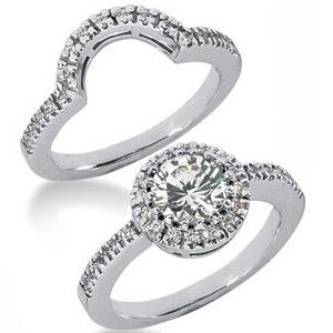 1.50 ctw Diamond Bridal Set Engagement Rings *Set No.30*