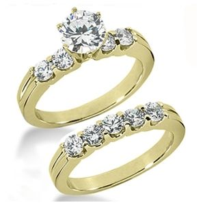 1.50 ctw Diamond Bridal Set Engagement Rings *Set No.32*