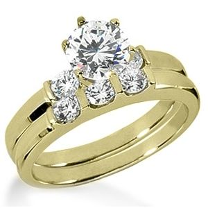 1.50 ctw Diamond Bridal Set Engagement Rings *Set No.34*