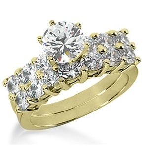 3.00 ctw Diamond Bridal Set Engagement Rings *Set No.6*