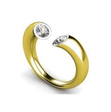 Diamante Anillo 14k Oro Amarillo