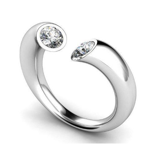 0.20 CT G/SI1 ROUND DIAMOND ENGAGEMENT RING 14K GOLD