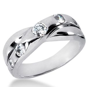 0.50 Carat white Diamond ring 14K white gold