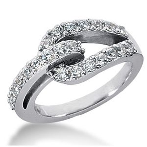 Diamond ring 0.75 Carat - 14K white gold