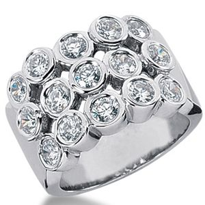 1.50 Carat white Diamond ring 14K white gold