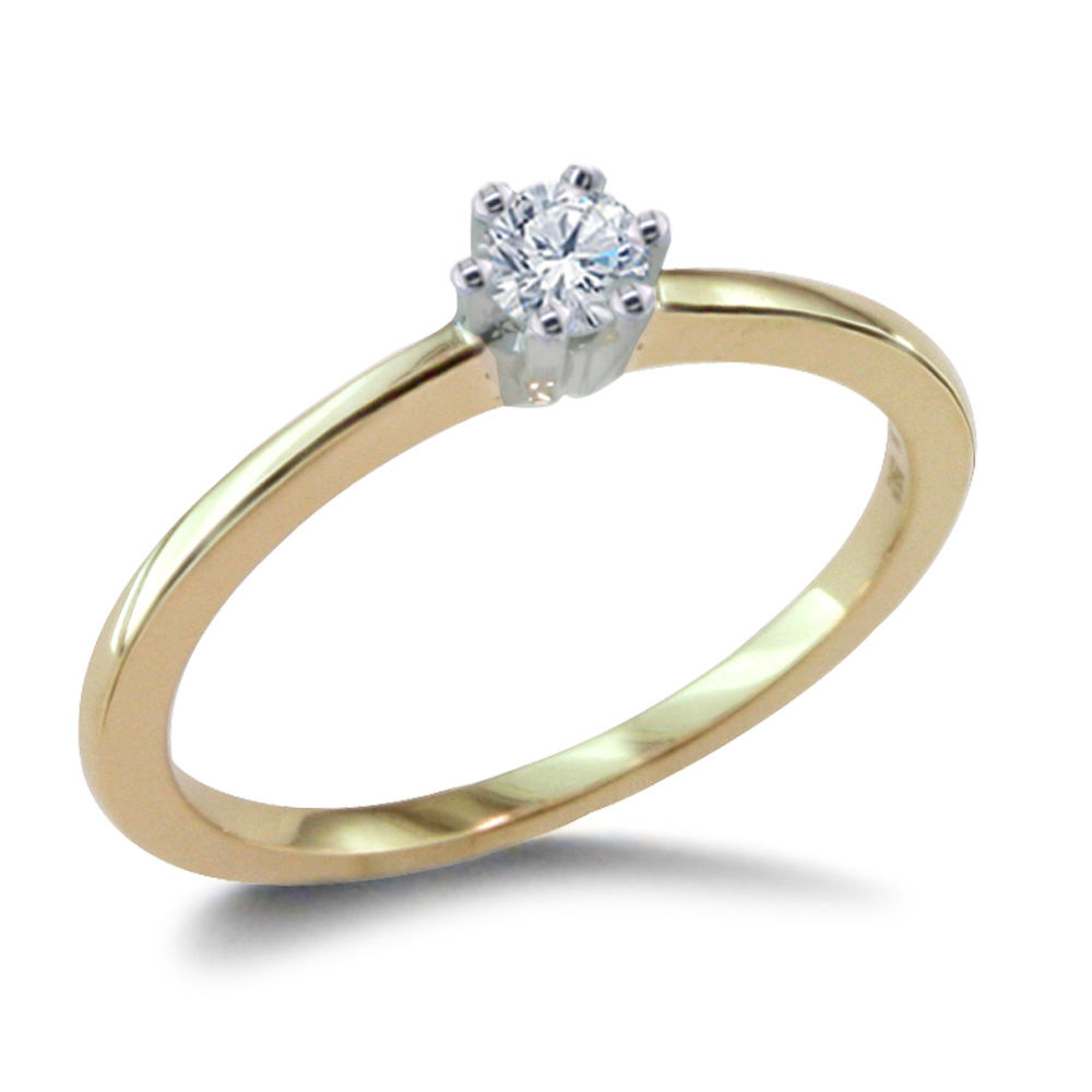 0.10 CARAT DIAMOND ENGAGEMENT RING 14K YELLOWGOLD