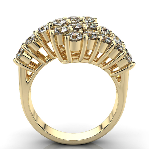 Diamantring mit 1.25 Karat Diamanten in 585er Gelbgold