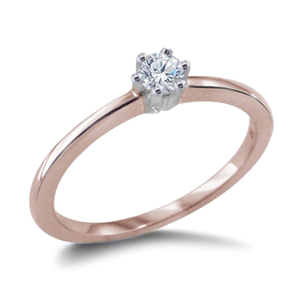 0.10 CARAT DIAMOND ENGAGEMENT RING 14K ROSEGOLD
