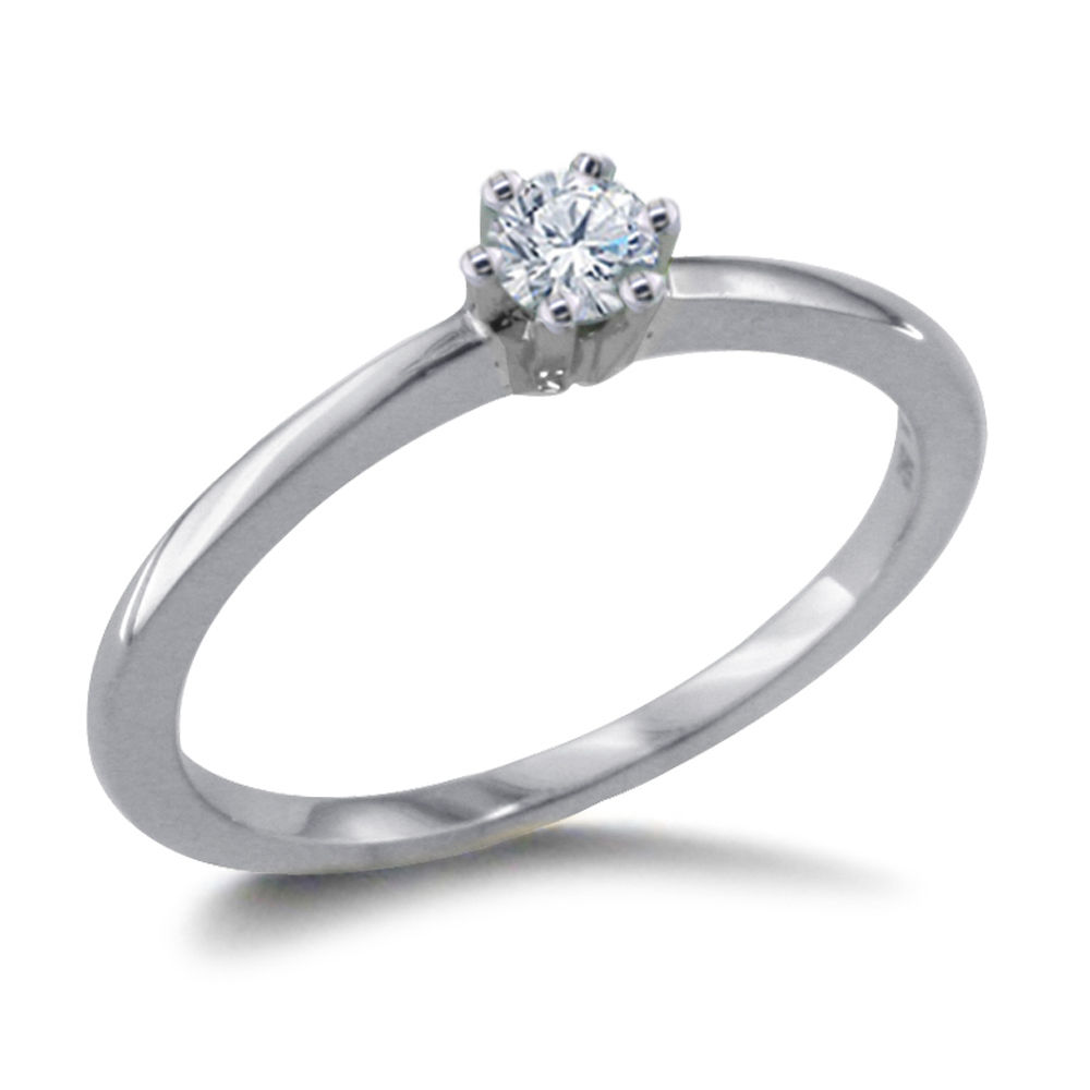 0.10 CARAT DIAMOND ENGAGEMENT RING 14K WHITEGOLD