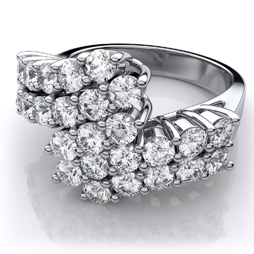 1.25 Carat white Diamond ring 14K white gold