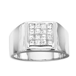Diamant Herren Ring 1.00 Karat in 585/14K oder 750/18K Gold