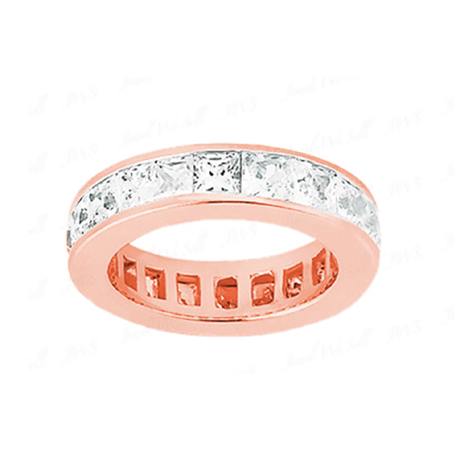 2.50 Ct. Mémoire Blanc Diamants Bague de Or rose 14K