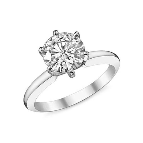 1.00 CT F/SI1 ROUND DIAMOND ENGAGEMENT RING 14K GOLD