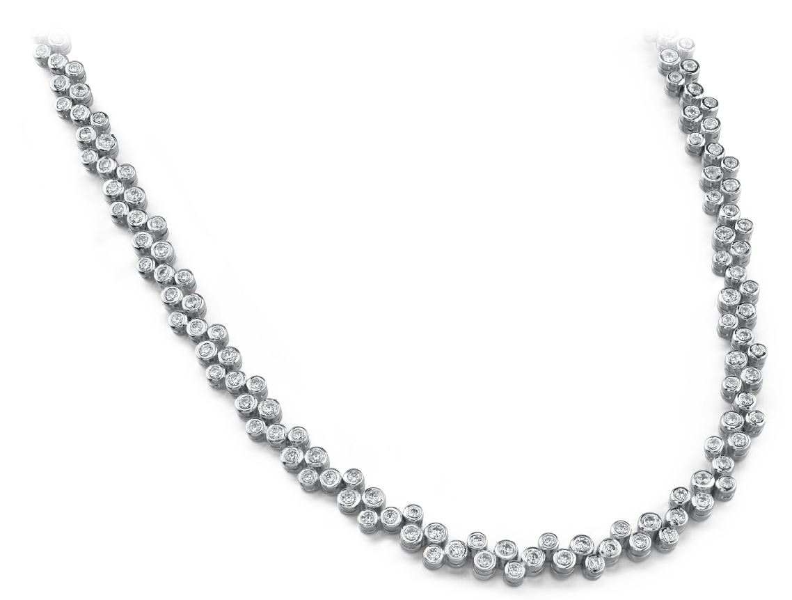 Diamond Necklace 4.00 Carat - 14K White Gold