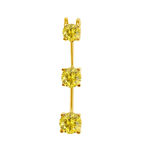 0.50 Carat yellow SI2 Diamond 14K yellow gold Pendant