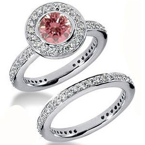 Diamantring pink Diamant Set 17
