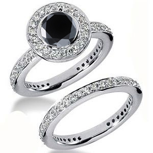 Diamantring schwarzer Diamant Set 17