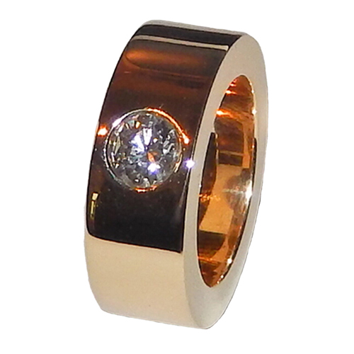 0.50 CT ROUND DIAMOND 14K YELLOW GOLD MEN'S RING
