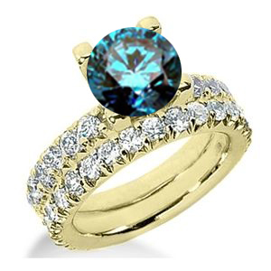 Diamantring blauer Diamant