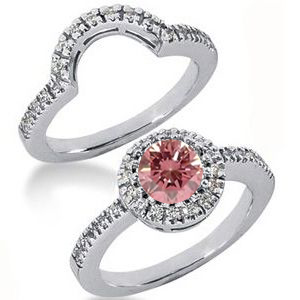 Diamantring pink Diamant Set 30