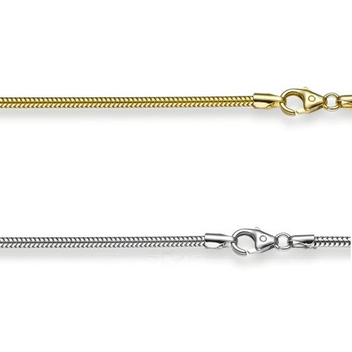 Snake Chain 1.90mm 14K White gold, yellow gold or rose gold